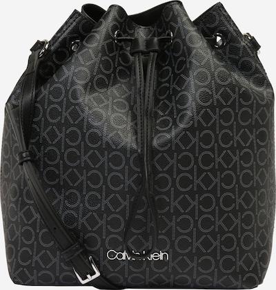 Calvin Klein Beuteltasche 'DRAWSTRING BUCKET BAG MONOGRAM' in grau / schwarz, Produktansicht