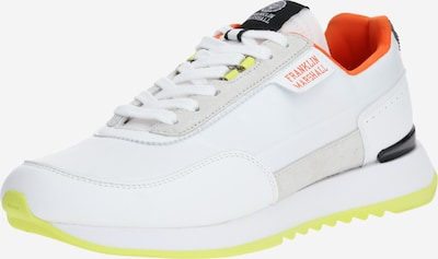 FRANKLIN & MARSHALL Sneakers laag 'DELTA BLEACH' in de kleur Limoen / Sinaasappel / Wit, Productweergave