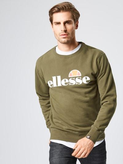 Bluză de molton ELLESSE pe verde / kaki / portocaliu / alb: Privire frontală
