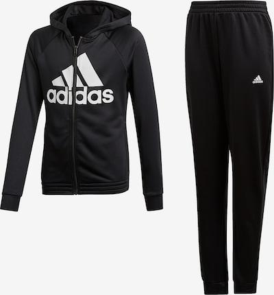 ADIDAS PERFORMANCE Trainingsanzug 'Hood Pes' in schwarz / weiß, Produktansicht