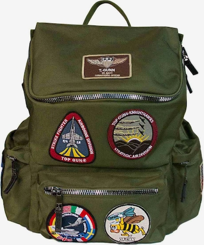 TOP GUN Rucksack mit TG Patches 'Easy' in oliv: Frontalansicht