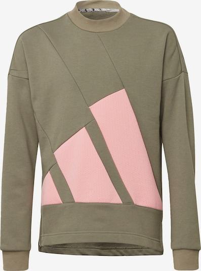 Sportinio tipo megztinis iš ADIDAS PERFORMANCE , spalva - alyvuogių spalva / rožių spalva, Prekių apžvalga