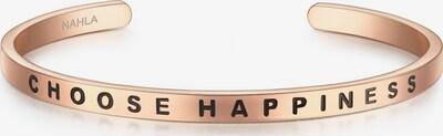 Nahla Jewels Armband mit CHOOSE HAPPINESS-Schriftzug in rosegold / schwarz, Produktansicht