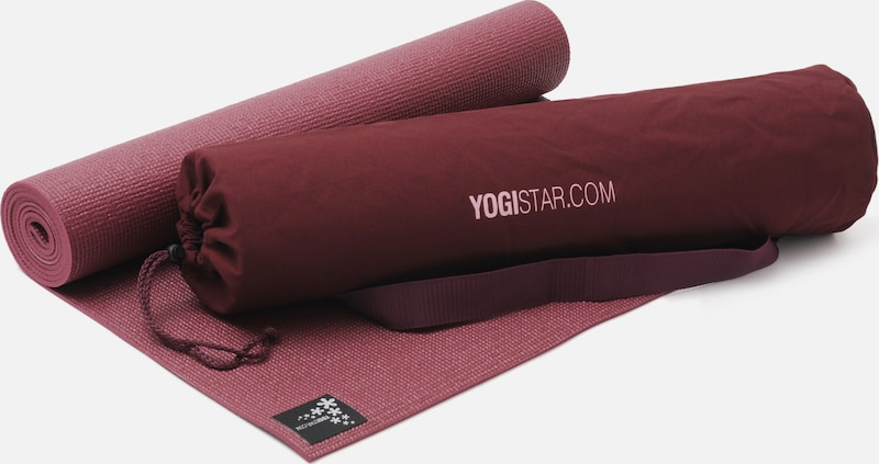 YOGISTAR.COM Yoga-set Starter Edition in bordeaux: Frontalansicht