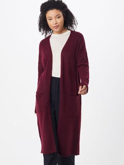 ONLY Manteau en tricot 'Clean' en lie de vin, Vue avec modèle