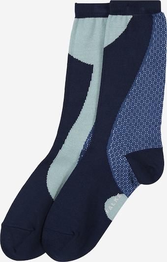FALKE Socken 'Grafic Jam SO' in marine / taubenblau / hellblau, Produktansicht