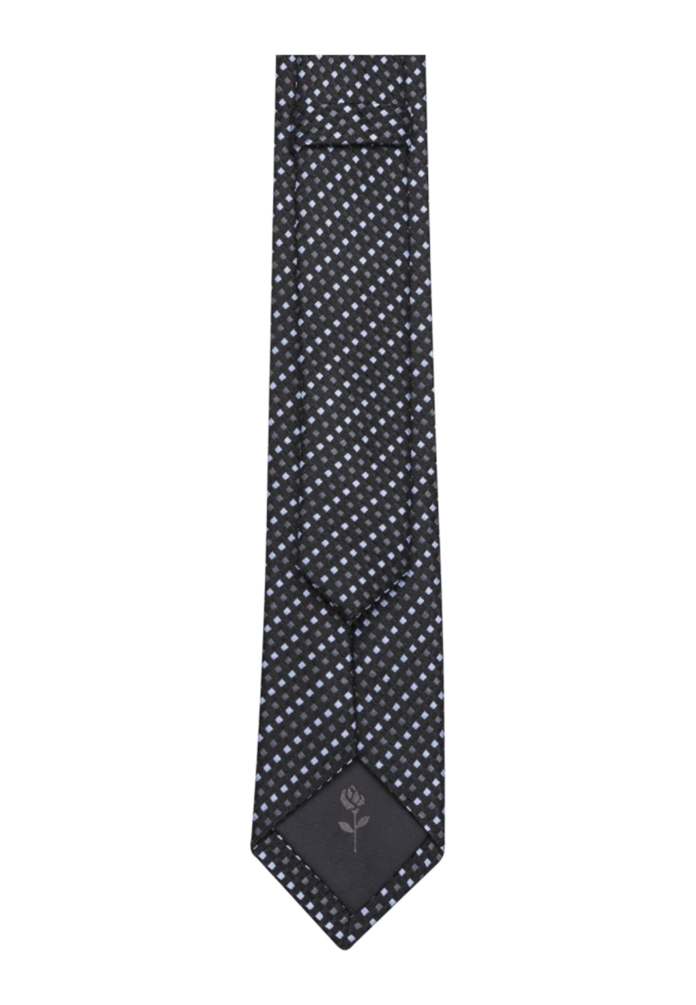 SEIDENSTICKER Krawatte 'Schwarze Rose' 2018 Auslaß Kiga4