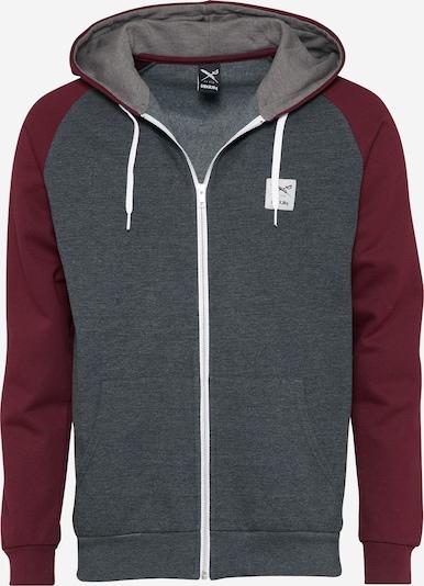 Iriedaily Sweatshirt 'De College' in anthrazit / weinrot, Produktansicht
