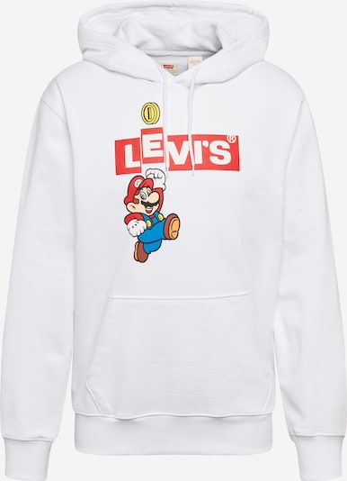 LEVI'S Sweatshirt 'NINTENDO GRAPHICPOHOODIEB' in de kleur Rood / Wit, Productweergave