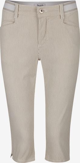 Angels Jeans in sand / weiß: Frontalansicht