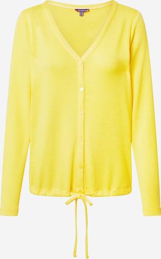 STREET ONE Strickjacke  'QR Idamarie' in gelb, Produktansicht
