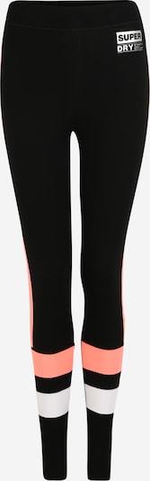 Superdry Spodnie sportowe w kolorze koralowy / czarny / białym, Podgląd produktu