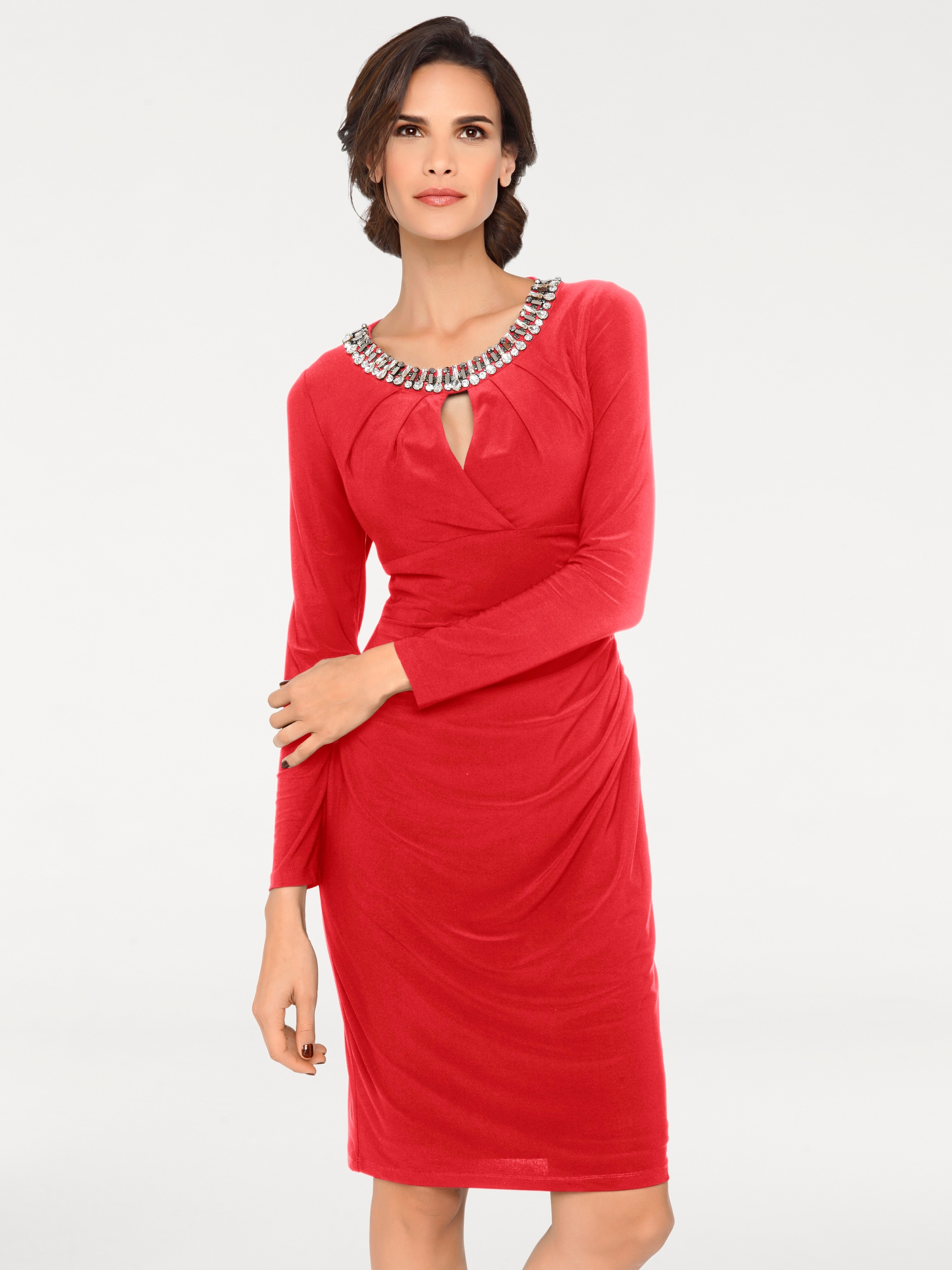 Heine En Rouge Robe Cocktail De myf6gvIbY7
