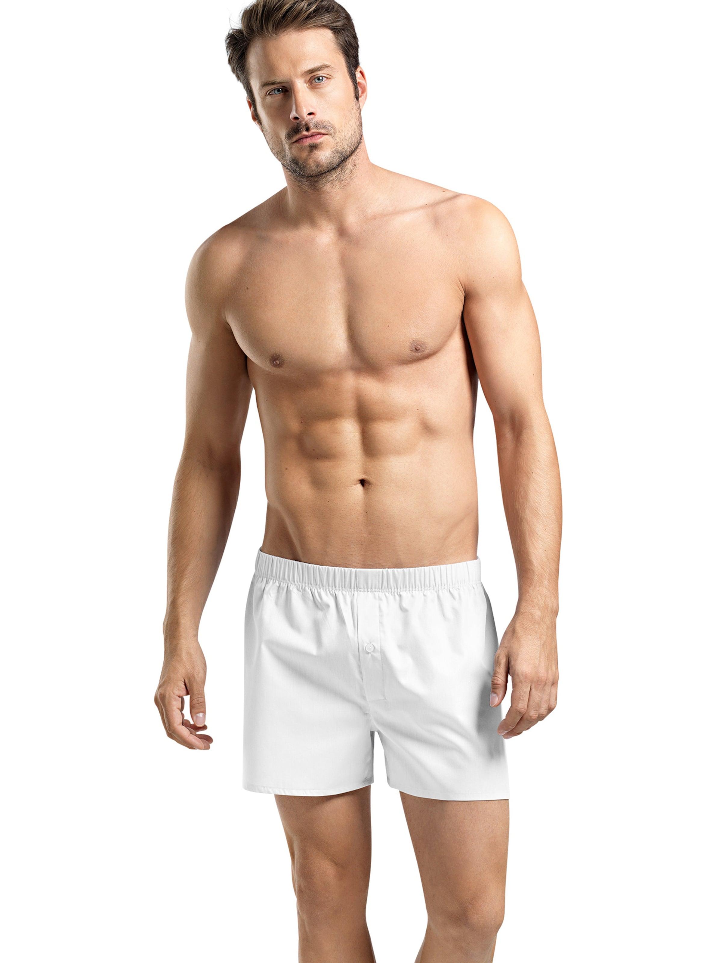 Hanro Boxershorts ' Fancy Woven ' in weiß Unifarben 45260