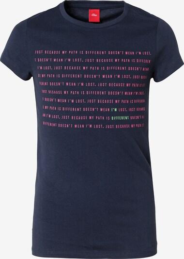 s.Oliver Junior T-Shirt in nachtblau, Produktansicht