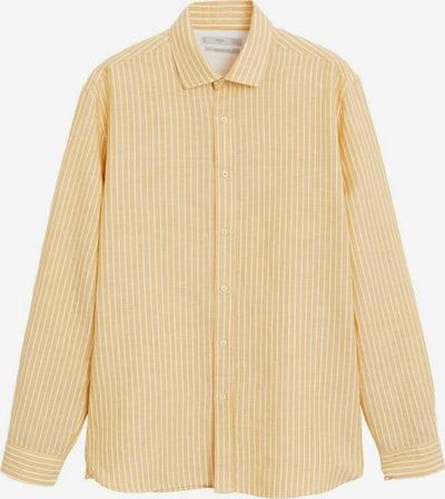 MANGO MAN Hemd 'Ria' in gelb / weiß, Produktansicht