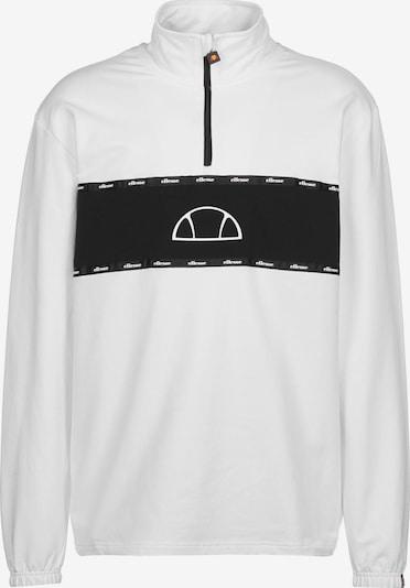 ELLESSE Sweatshirt ' Avisio OH ' in de kleur Zwart / Wit, Productweergave