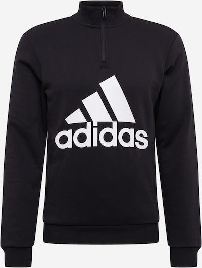 ADIDAS PERFORMANCE Sweatshirt 'M MH BOS 1/4 FT' in schwarz / weiß, Produktansicht