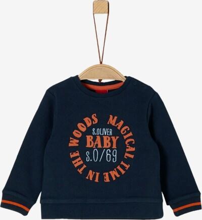 s.Oliver Sweatshirt in nachtblau / hellorange / weiß, Produktansicht
