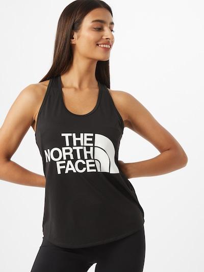 THE NORTH FACE Sportovní top 'Play Hard' - černá / bílá, Model/ka