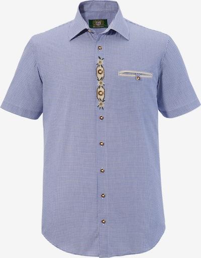OS-TRACHTEN Trachtenhemd in blau / weiß: Frontalansicht