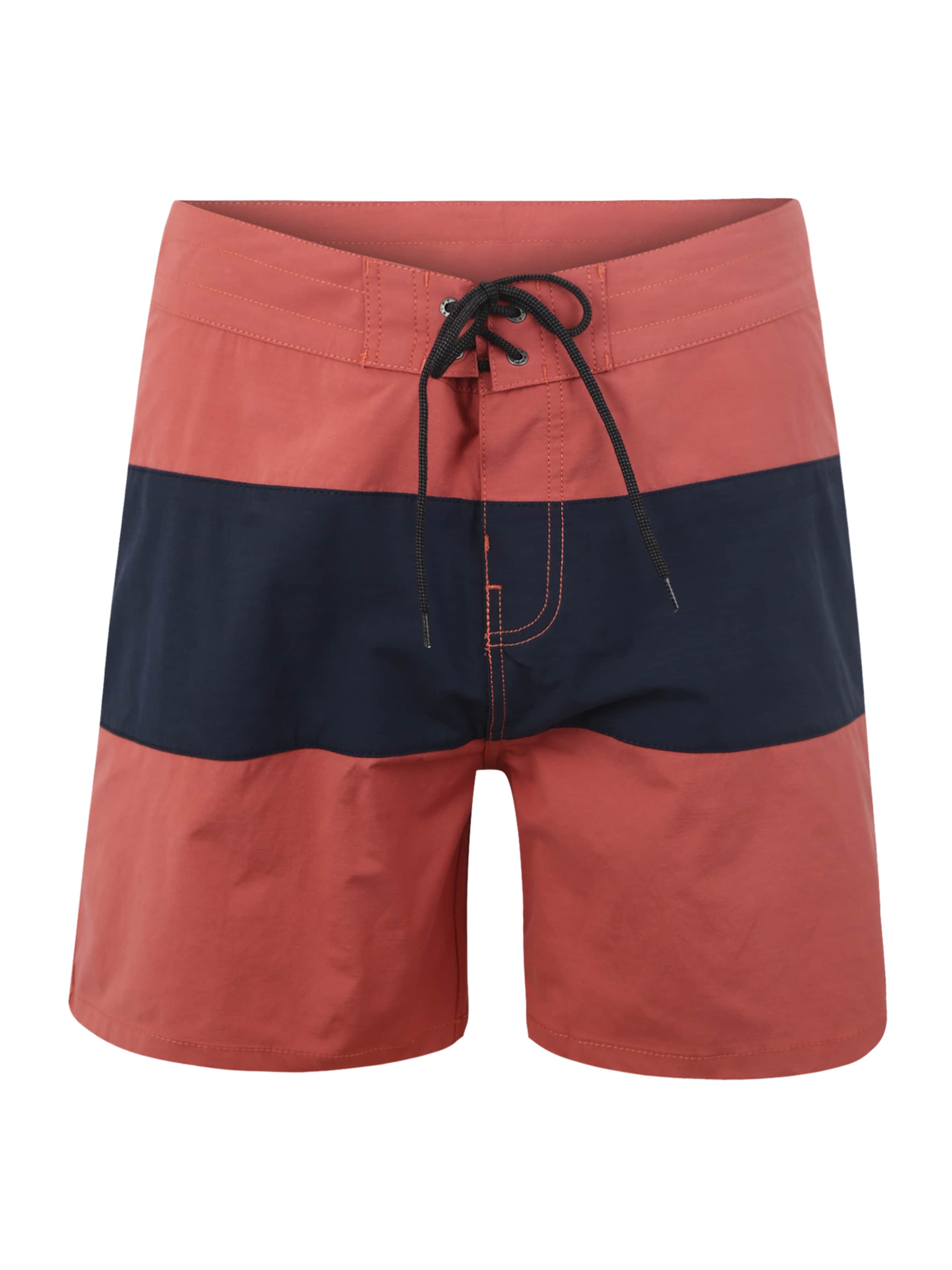 Rouge Shorts Rip De Paneled En Bleu Curl 'retro Bain 17''' PzPxTrqw