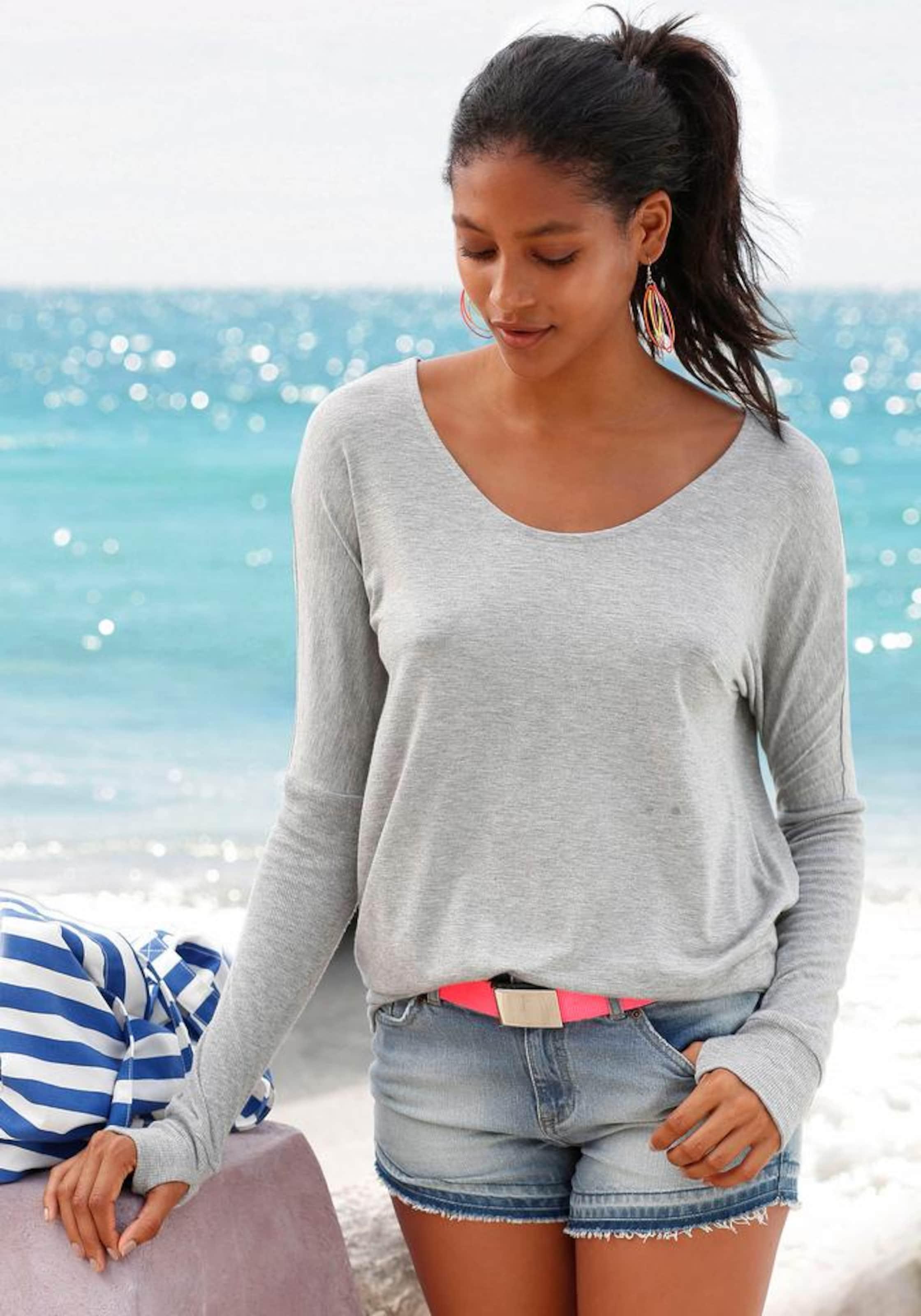 tiefem mit Strandshirt Strandshirt R眉ckenausschnitt BENCH mit BENCH v6yWgy0