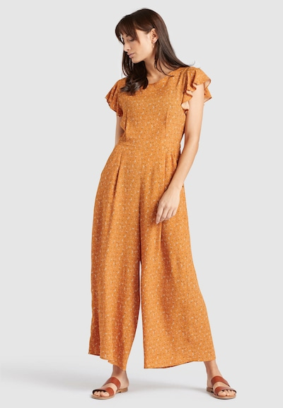 khujo Jumpsuit ' KAMEA ' in gelb / orange, Modelansicht