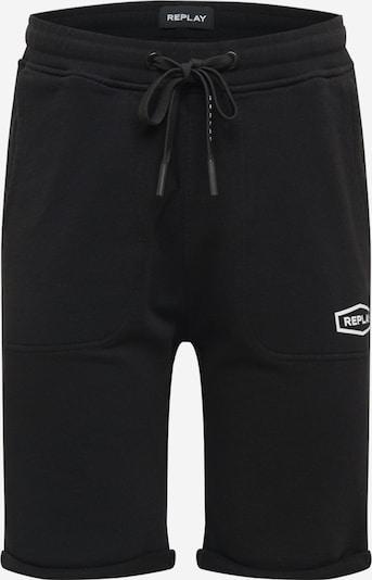 REPLAY Pantalon en noir, Vue avec produit