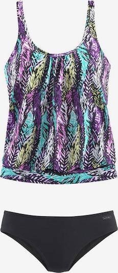 LASCANA Tankini en turquoise / violet / noir, Vue avec produit
