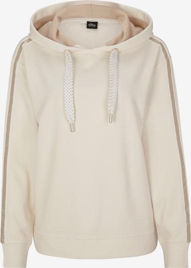 s.Oliver BLACK LABEL Sweatshirt in creme, Produktansicht