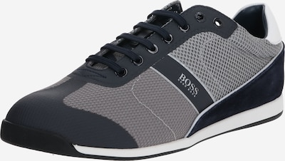 BOSS Sneaker 'Glaze_Lowp_mewt' in dunkelblau / hellgrau, Produktansicht