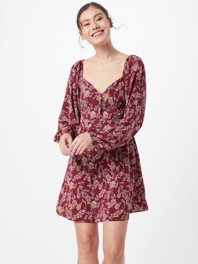 Missguided Sukienka w kolorze czerwone winom: Widok z przodu