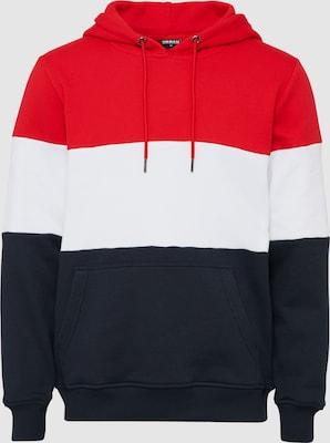 Urban Classics Sweatshirt in Navy / Vuurrood / Wit
