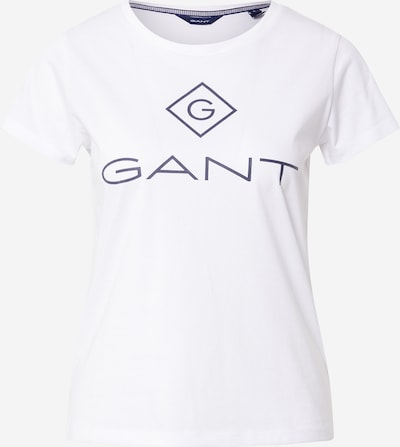 GANT Shirt 'LOCK UP' in de kleur Marine / Wit, Productweergave