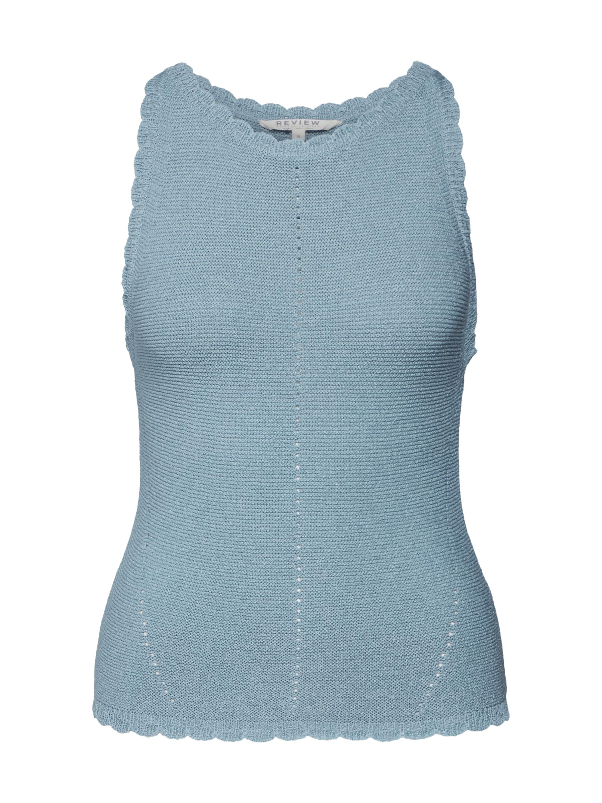 Review En shirt Top' Neckhold T 'new Bleu SzqULpjMVG