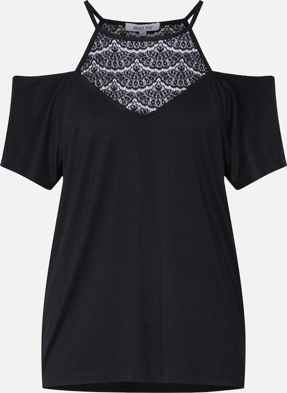 Noir shirt T En shirt 'annelie' T lKcT1FJ3