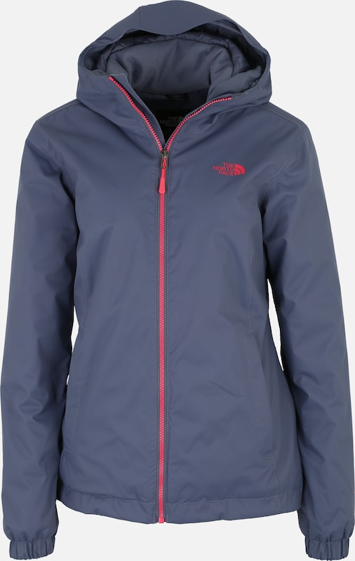 THE NORTH FACE Veste outdoor 'Quest' en bleu / rouge orangé, Vue avec produit