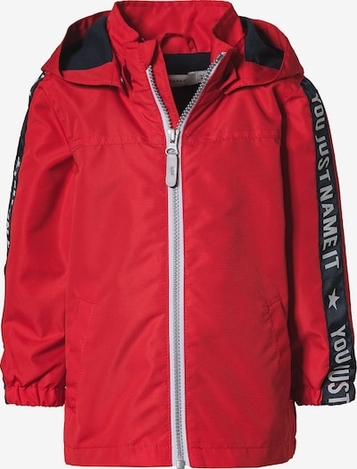 NAME IT Jacke 'Mellon' in hellgrau / rot / schwarz, Produktansicht