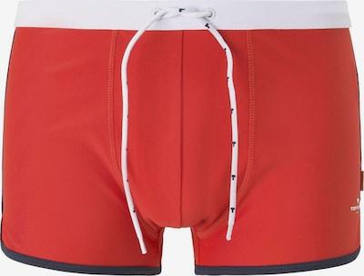 TOM TAILOR Nightwear Badehose in rot / weiß: Frontalansicht
