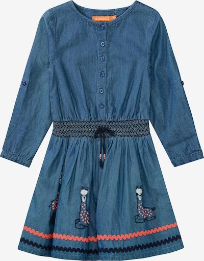 STACCATO Jeanskleid in blue denim / koralle / schwarz / naturweiß, Produktansicht