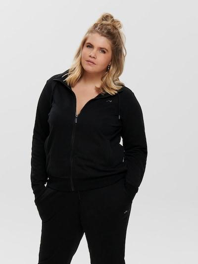 Sportinis džemperis 'ONPELINA ' iš Only Play Curvy , spalva - juoda: Vaizdas iš priekio