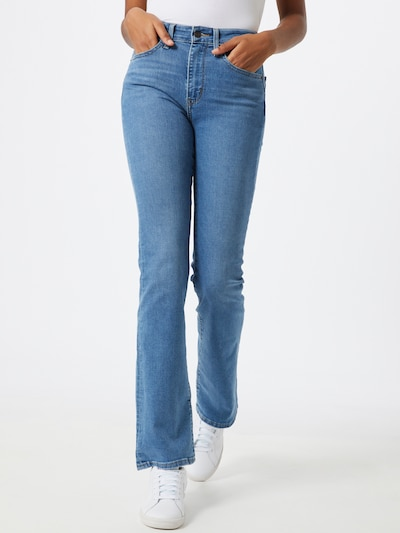 LEVI'S Jeans '725 HIGH RISE BOOTCUT' in blue denim, Modelansicht