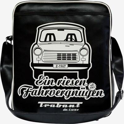 LOGOSHIRT Tasche 'Trabant - Ein riesen Fahrvergnügen' in schwarz / weiß, Produktansicht