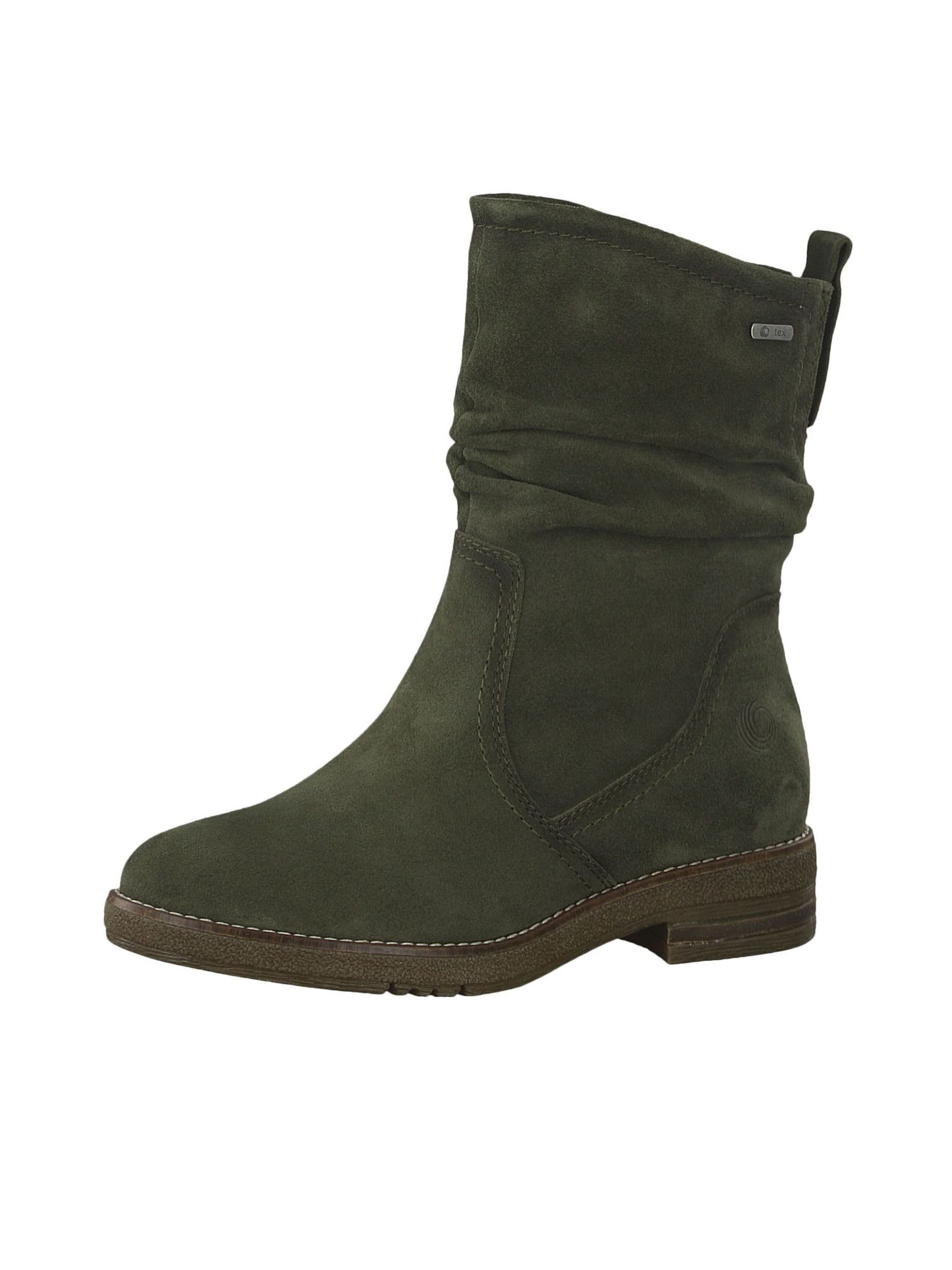 BE NATURAL Stiefelette in khaki