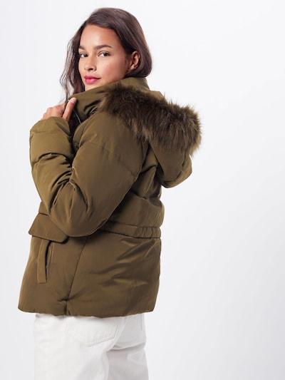 VILA Zimska jakna 'VICALIFORNIA STRAIGHT SHORT DOWN JACKET' | zelena barva: Pogled od zadnje strani