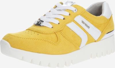 TOM TAILOR Sneaker in gelb / weiß, Produktansicht
