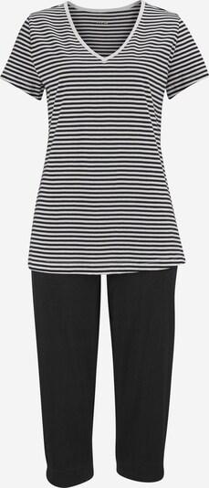 H.I.S Pyjama in schwarz / weiß, Produktansicht