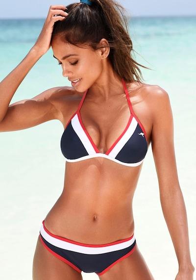 KangaROOS Bikini in navy / rot / weiß, Modelansicht