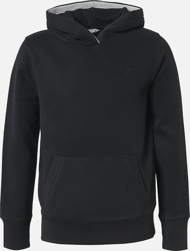 REVIEW FOR TEENS Sweatshirt in schwarz: Frontalansicht